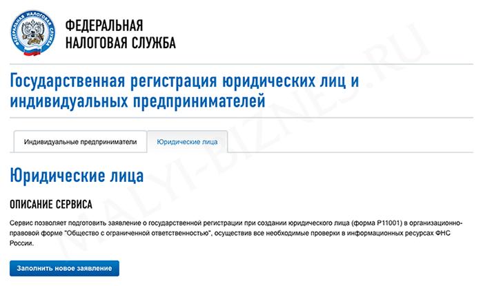 Федеральная налоговая служба россии регистрация ип образец формы о регистрации ип
